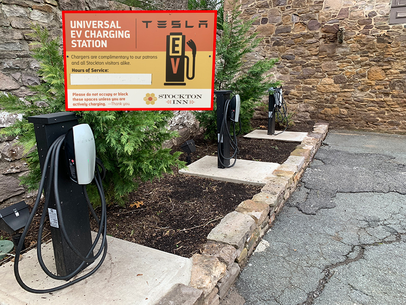 EV Chargers at Stockton Inn